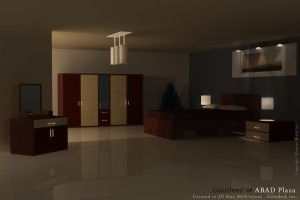Abad Plaza Room image recreated in 3DMax
