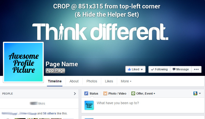 Facebook page cover photo template psd xcf monster brain games facebookpagecoverphototemplate maxwellsz