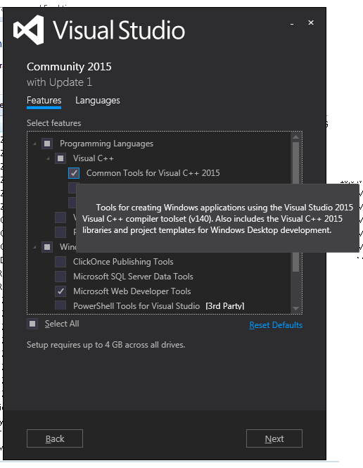 visual studio 2015 common tools openframeworks bug